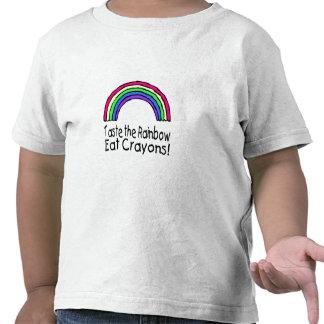 Taste The Rainbow Eat Crayons Tees