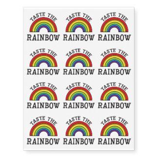 Taste The Rainbow LGBT Pride Temporary Tattoos