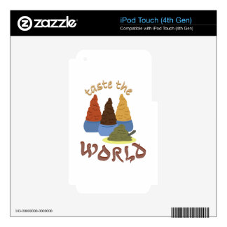 Taste the World Decal For iPod Touch 4G
