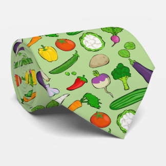 Taste Vegan colorful with green background Neck Tie