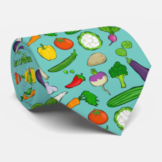 Taste Vegan colorful with sky blue Tie