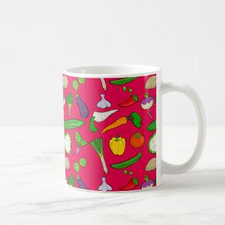 Taste Vegan colorful with strawberry red Coffee Mug