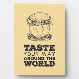 Taste your way around the world plaque