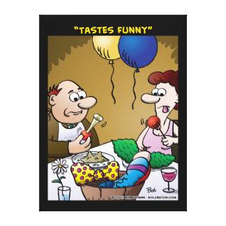 """""""Tastes Funny"""" Gallery Wrap Canvas"""