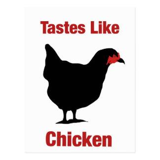 Tastes Like Chicken Postcard