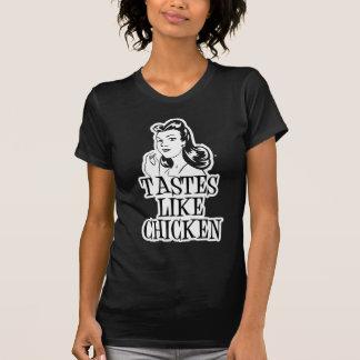 Tastes Like Chicken Retro Lady T-Shirt