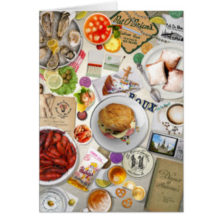 Tastes of New Orleans French Quarter Cuisine Card