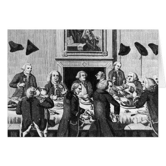 Tasting, 1782 card