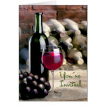 Tasting Time You're Invited Greeting Card