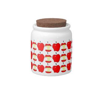 tasty apples candy jar