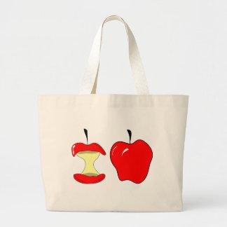 tasty apples large tote bag