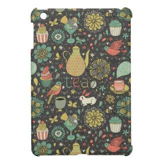 Tasty bright Tea Card iPad Mini Cover