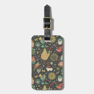 Tasty bright Tea Card Luggage Tag