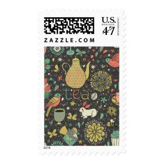 Tasty bright Tea Card Postage
