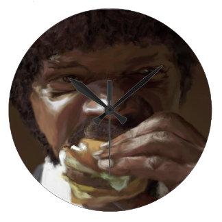 Tasty Burger Time Large Clock