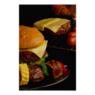 Tasty Burgers and kebabs for food lovers Poster