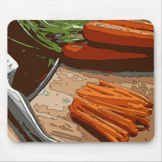 Tasty Carrots, Onions and Celery Chopped Up Mousepads