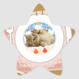 Tasty cat star stickers