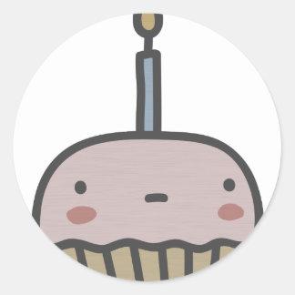 Tasty Cupcake Classic Round Sticker