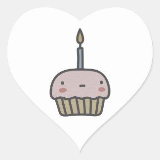Tasty Cupcake Heart Sticker