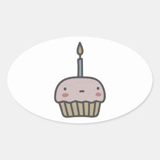 Tasty Cupcake Oval Sticker