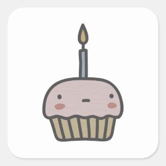 Tasty Cupcake Square Sticker