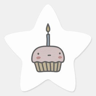 Tasty Cupcake Star Sticker