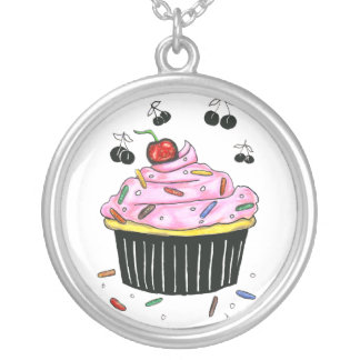 Tasty Cupcake sterling silver necklace