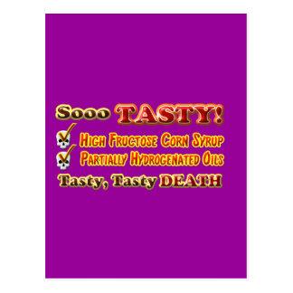 Tasty Death Hydrogenated Fructose Design Postcard