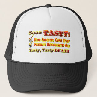 Tasty Death Hydrogenated Fructose Design Trucker Hat