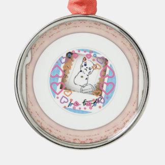 Tasty invitation cat metal ornament
