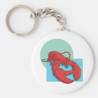 Tasty Lobster Basic Round Button Keychain