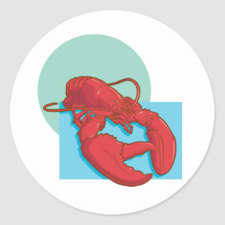 Tasty Lobster Classic Round Sticker