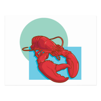 Tasty Lobster Postcard