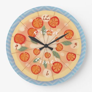 Tasty Margarita Pizza Wall Clocks
