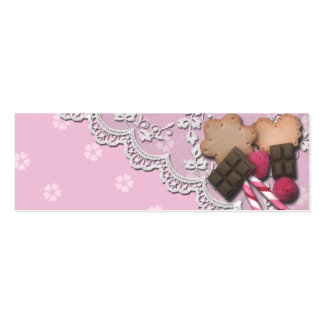 Tasty Mini Treats Double-Sided Mini Business Cards (Pack Of 20)