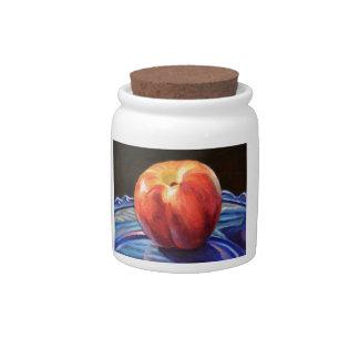 Tasty Nectarine Candy Jars