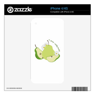 Tasty Pear iPhone 4 Decals