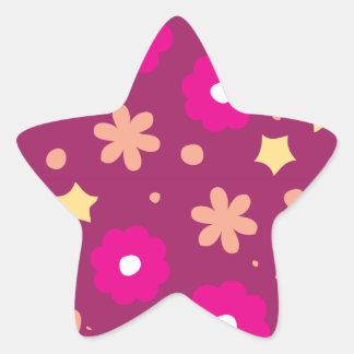 Tasty Pink Purple Floral Pattern Stickers