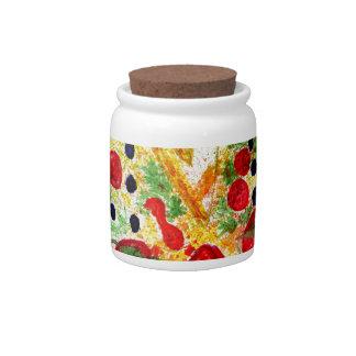 Tasty Pizza Candy Jar
