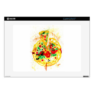 """Tasty Pizza Decal For 15"""" Laptop"""