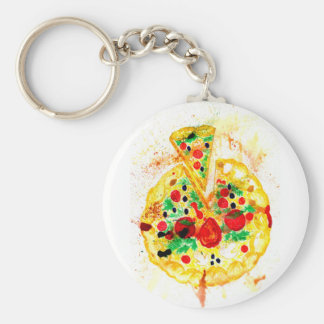 Tasty Pizza Keychain