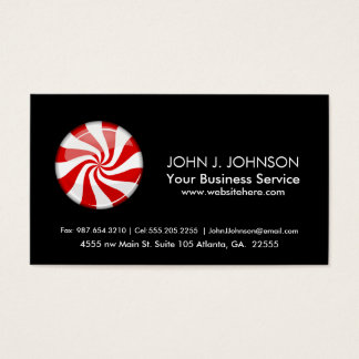 Tasty Round Peppermint Business Card