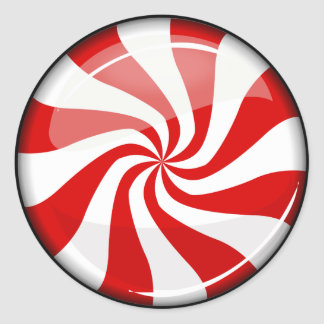 Tasty Round Peppermint Classic Round Sticker