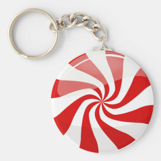 Tasty Round Peppermint Keychain