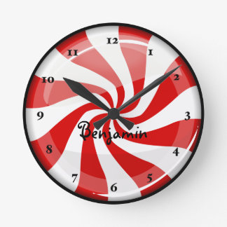 Tasty Round Peppermint Round Clock