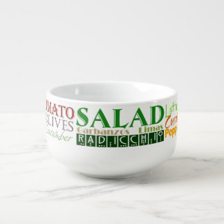 Tasty Salad Words Soup Mug