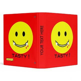 'tasty ' SMILEY FACE BINDER binder
