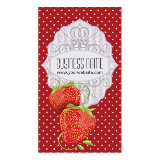 Tasty Strawberries Business Card (front side)