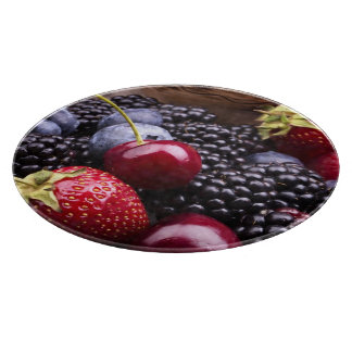 Tasty Summer Fruits On A Wooden Table Cutting Boards